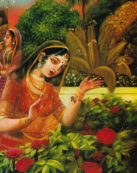 Srimati Radharani talks to the Bumblebee